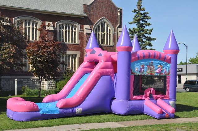 inflatable jumpers with slide combo