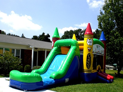 rent inflatable bounce house / slide combo