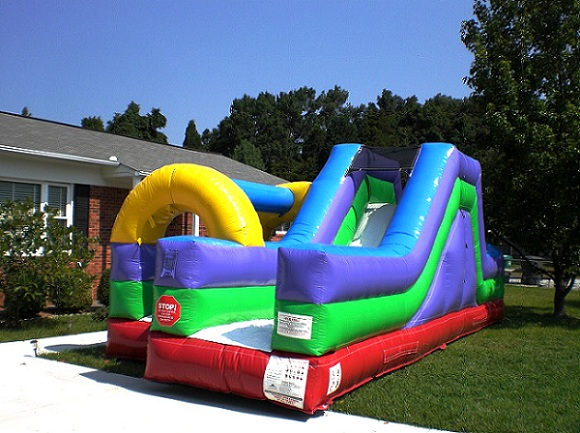 inflatable slip and slides for rent