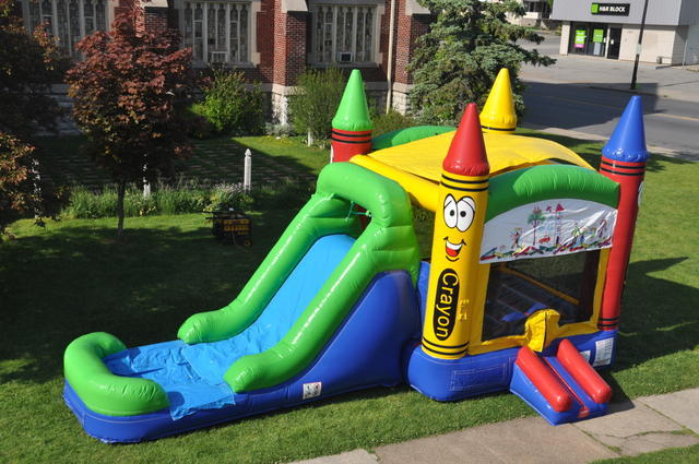 rent inflatable bounce house water slide