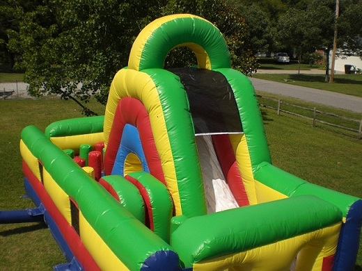 rent inflatable obstacle course slide